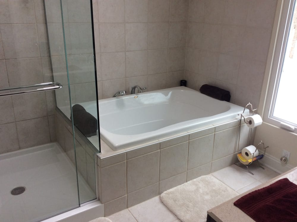 Custom Bathroom with Shower / Bath Combo, Heated Floors, and ...