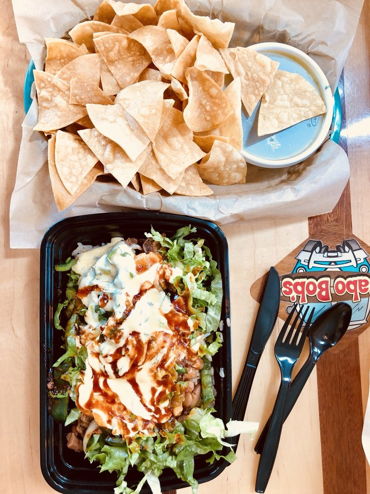 Food from Cabo Bob's Burritos