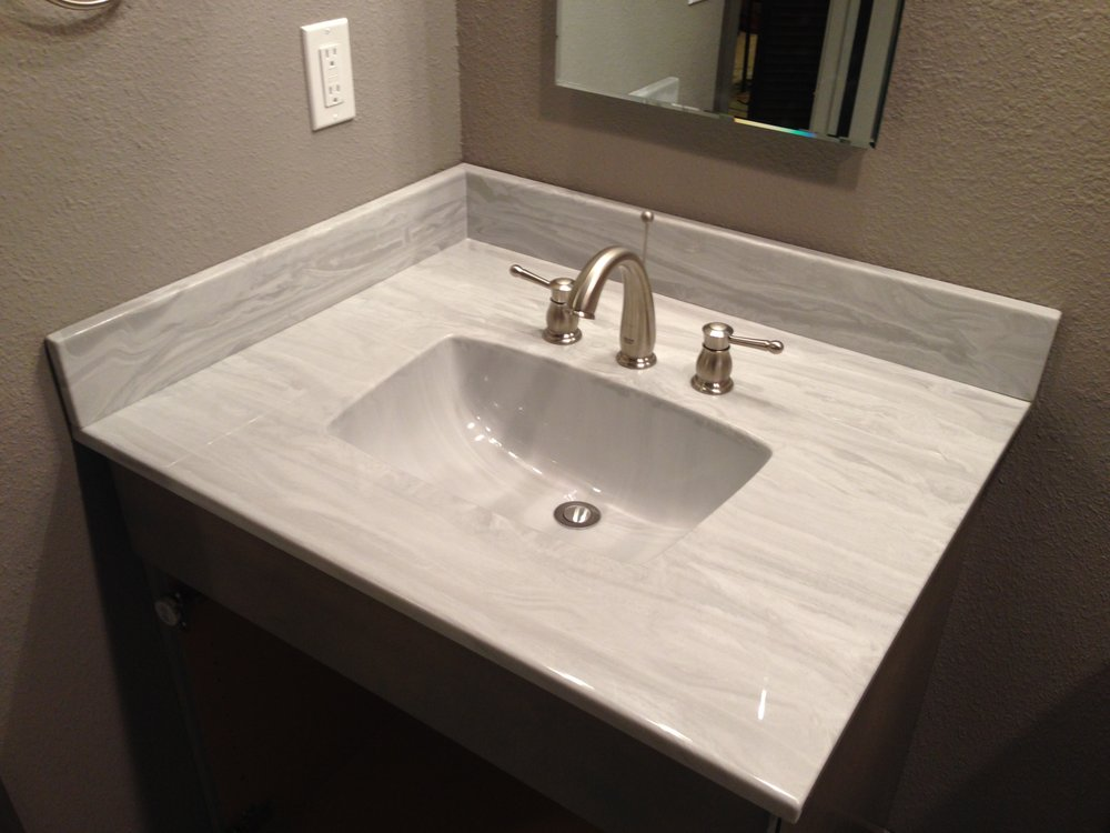 Cultured Marble Bathroom Vanity Top Color Pewter Veined Yelp