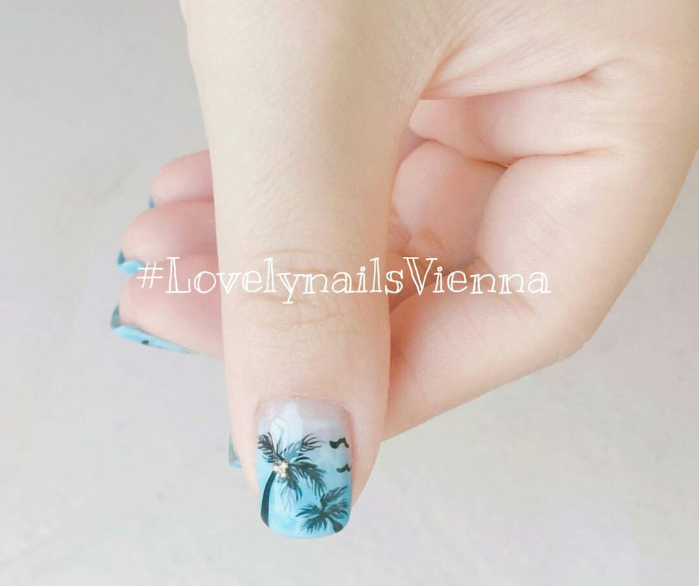 Get Palm Tree nail design for your summer vacation! - Yelp