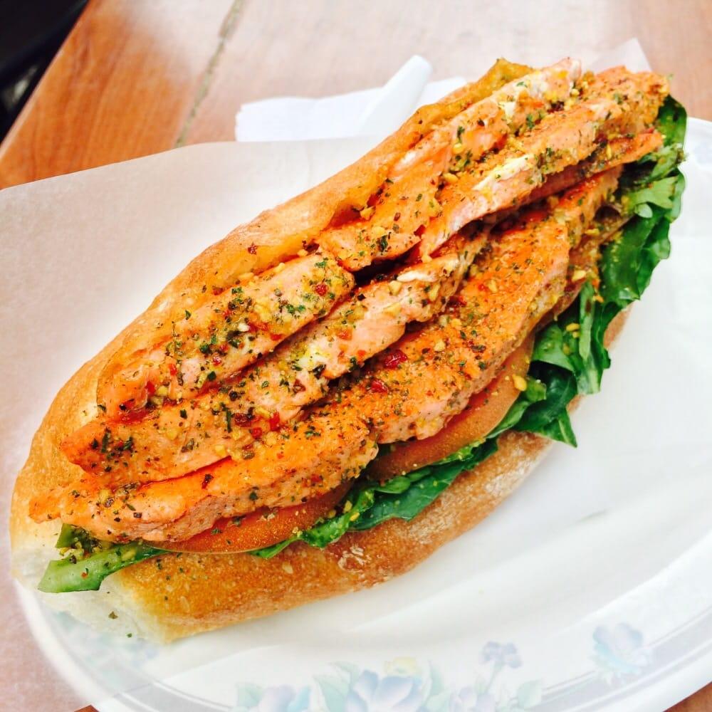 Wild salmon sandwich yelp for Best fish sandwich near me