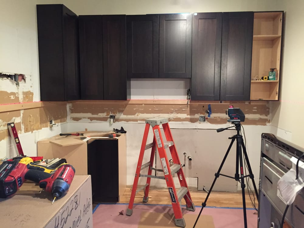 Kitchen Remodel-Cabinet Installation Laser Level Accuracy - Yelp