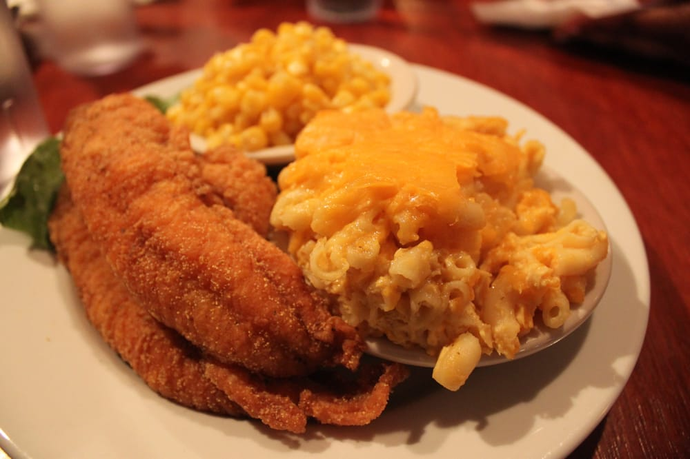 Fried cat fish mac cheese and buttered corn yelp for Fried fish near me