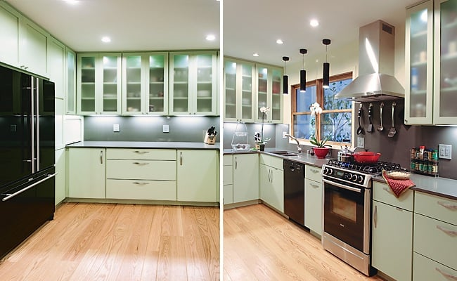 Olive Green Maple Painted Kitchen Cabinets By Dynasty