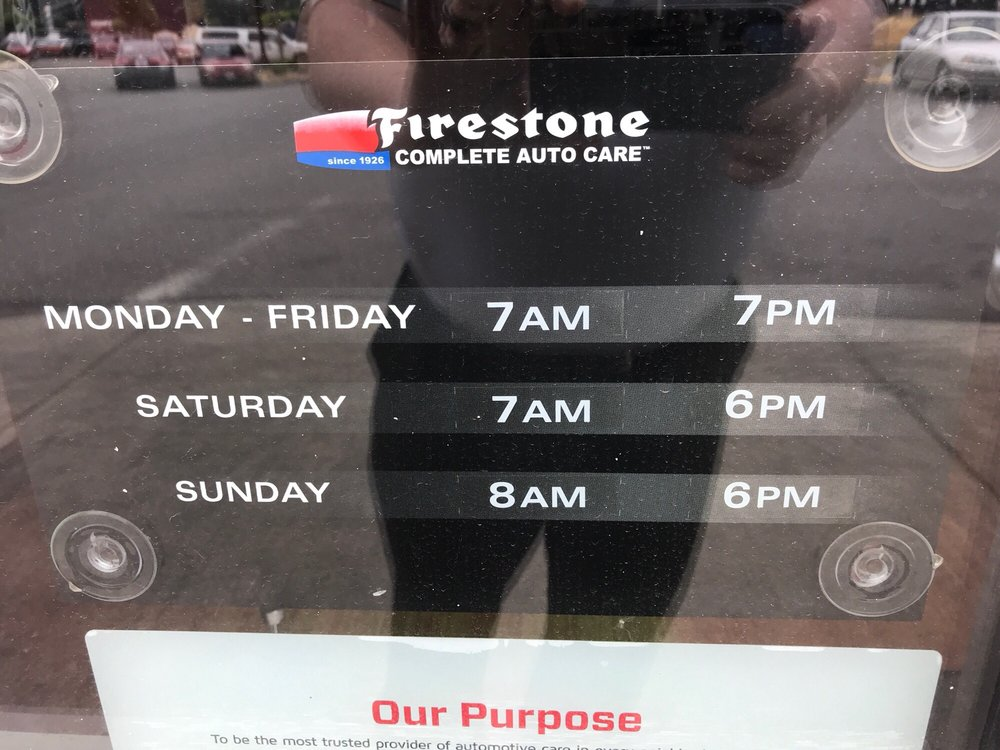 Firestone Hours Sunday >> The Listed Hours Shown On The Yelp Page Are Incorrect These Are