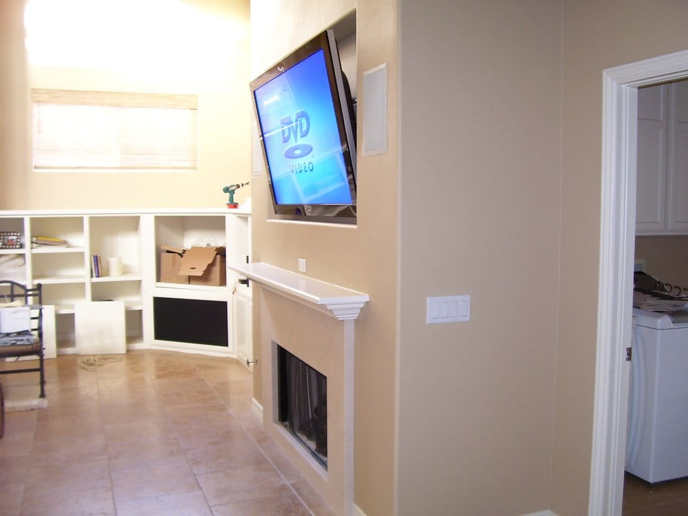50 Flat Panel Samsung Plasma Tv Installation Over Fireplace In