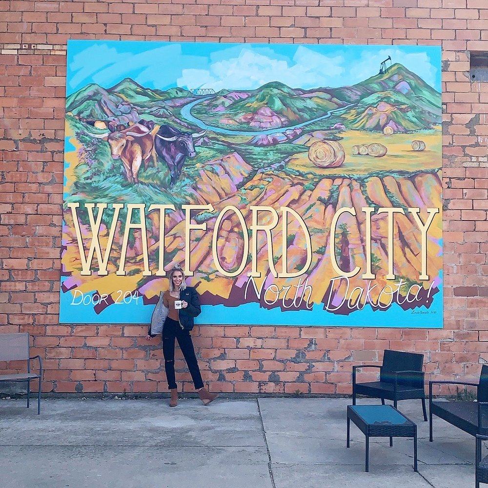 Watford City Mural: 204 N Main St, Watford City, ND