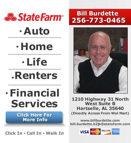Bill Burdette - State Farm Insurance Agent: 1210 Hwy 31 NW, Hartselle, AL