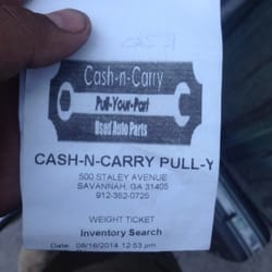 Cash N Carry Pull Your Part Auto Parts Supplies 500 Staley Ave