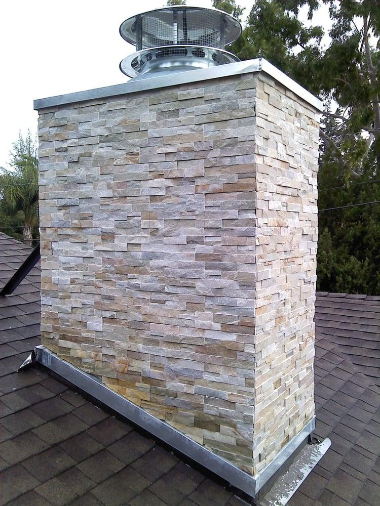 Chimney Refacing Usine Ledger Stone Veneers Yelp