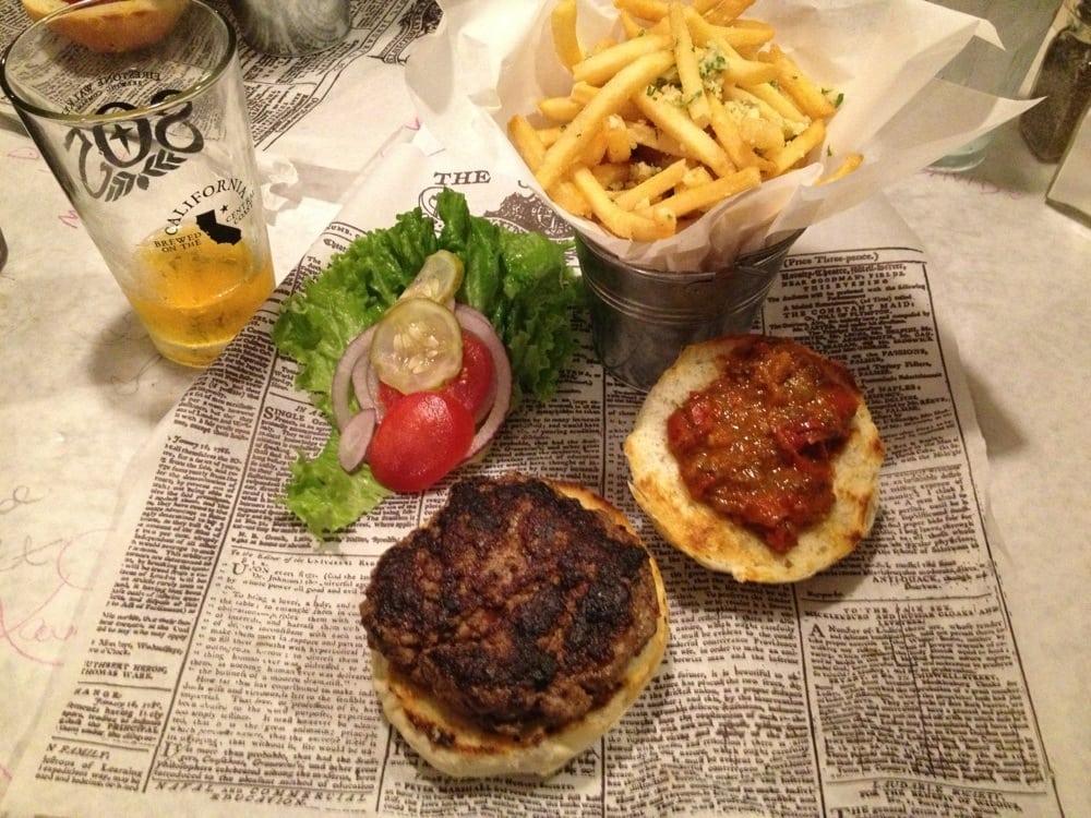 lamb burger with parmesan garlic fries yelp