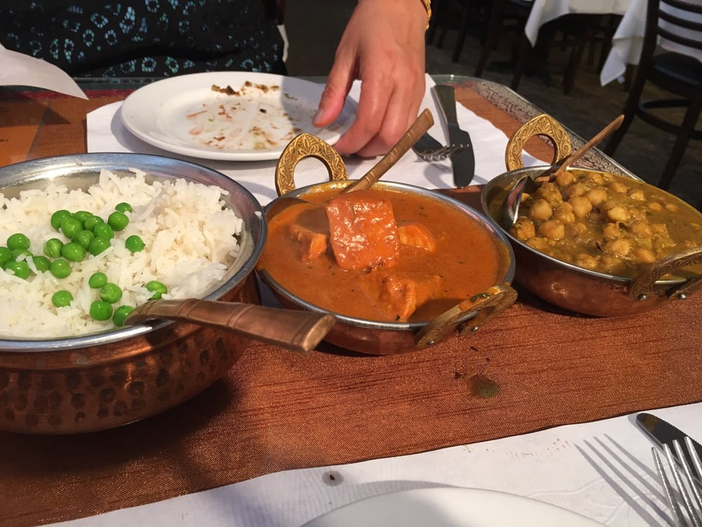 Photo of Tandoor Indian Grill - Salt Lake City, UT, United States. Chicken tikka masala and Chana masala