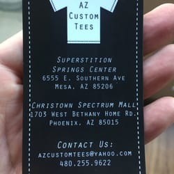 Az custom tees customized merchandise 6555 e southern ave mesa photo of az custom tees mesa az united states business card reheart Images