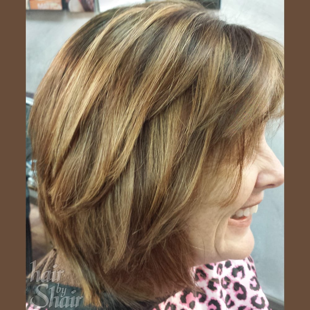 Highlights Lowlights Haircolor Bobcut Hairstyle Hair By Shair
