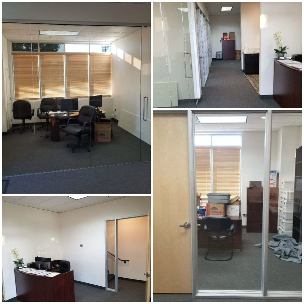 Complete office renovation. Installed glass walls/doors, installed ...