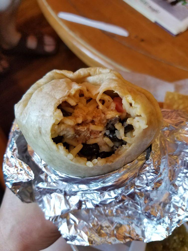 Food from Baa'd Sheep Burritos