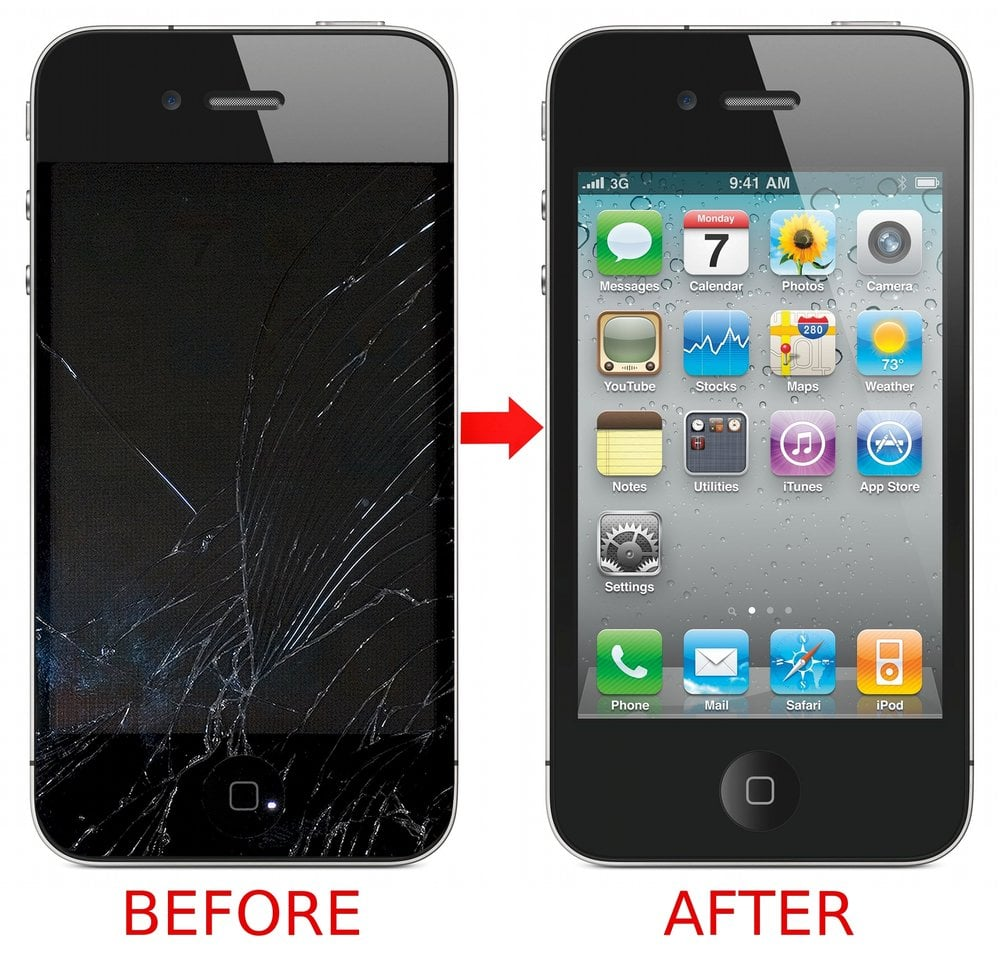 Iphone Repair Before And After Being Fixed Yelp