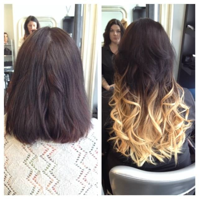 Before And After 18 Inch Fusion Ombre Hair Extensions Yelp