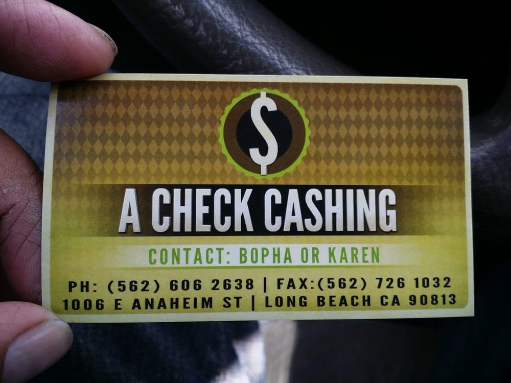 A Check Cashing