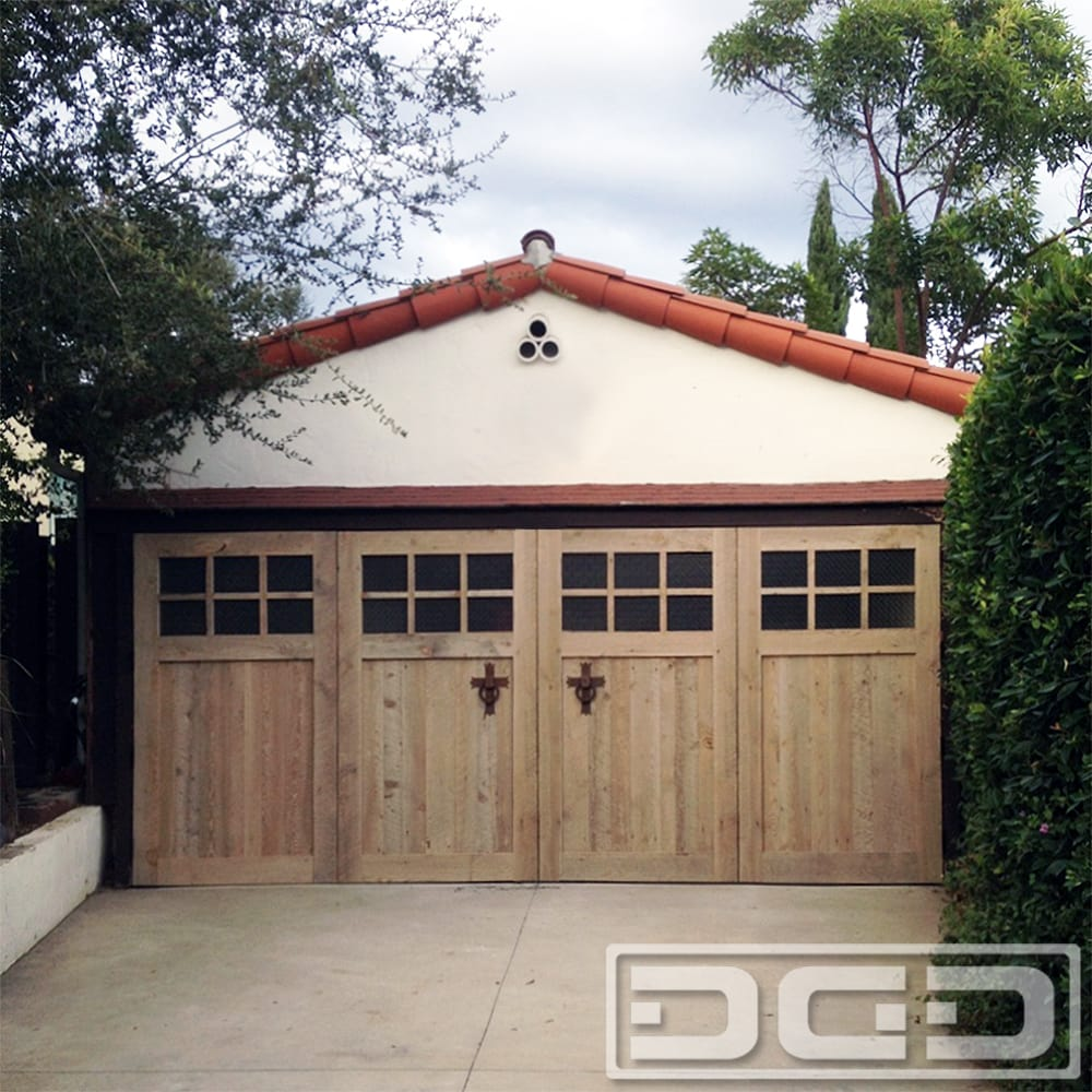 Real out swing carriage doors for garage conversions in for Garage door repair near my location