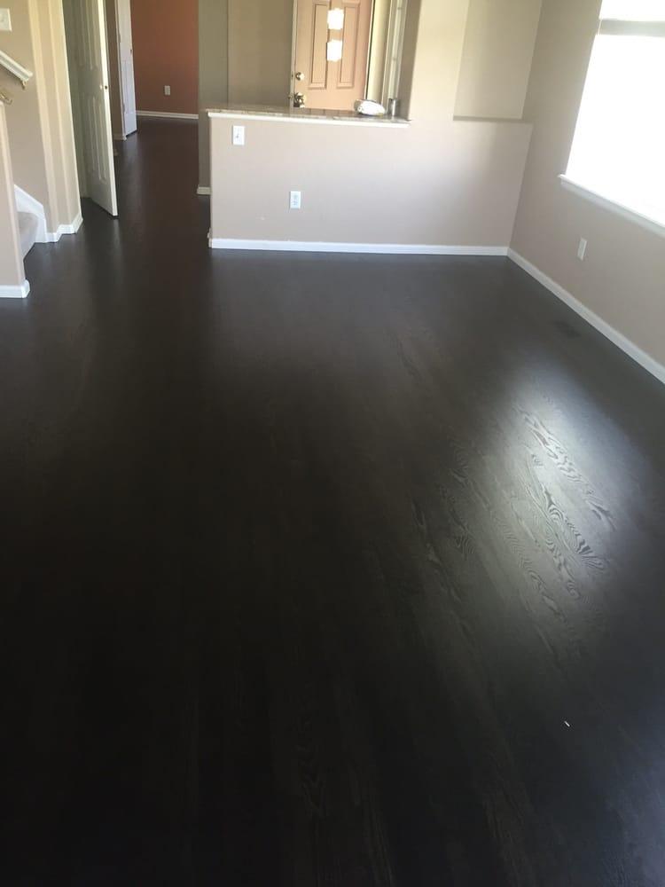 Ebony hardwood floor stain