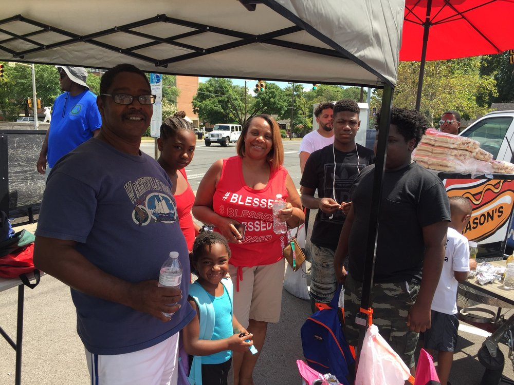At Ease Community BookBag Drive - We gave free school supplies to