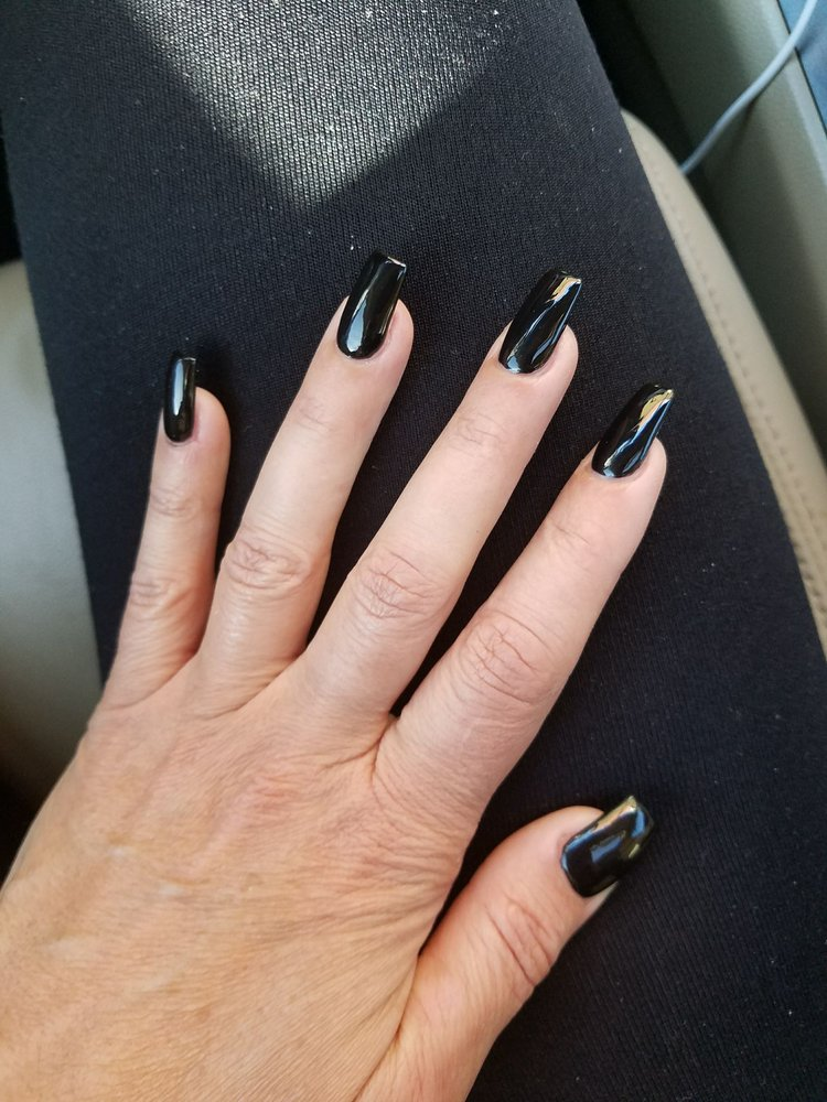 Nails done by Don ... OPI black onyx polish. I usually love French ...