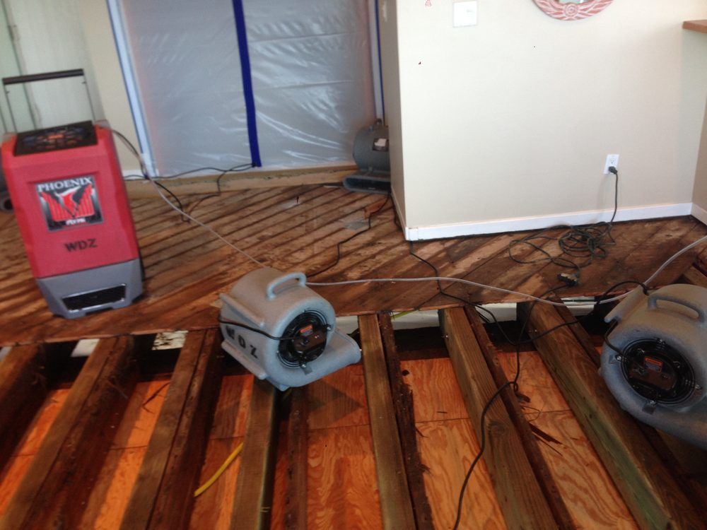 Dry Out Being Done For Water Damage To Wood Flooring Yelp