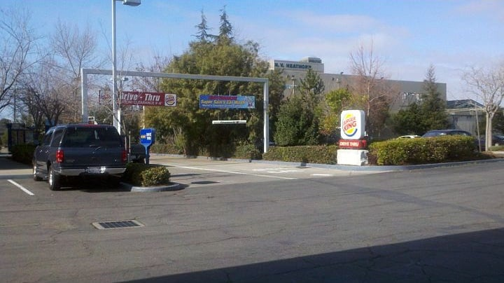 Car Wash Entrance To The Right Of Burger King Drive Thru