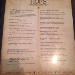 Photos for Hop's Downtown Grill   Menu - Yelp