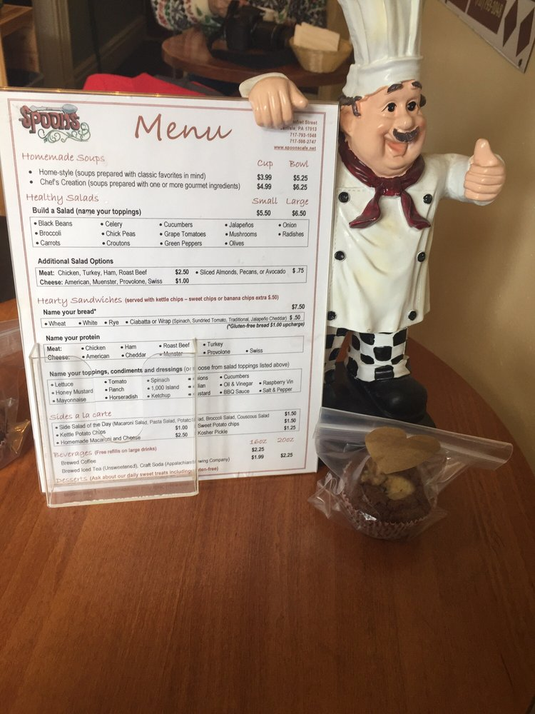 Menu and a brownie - Yelp