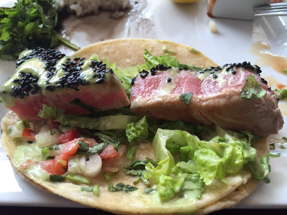 Seared sushi grade local caught ahi tuna tacos yelp for Buy sushi grade fish online