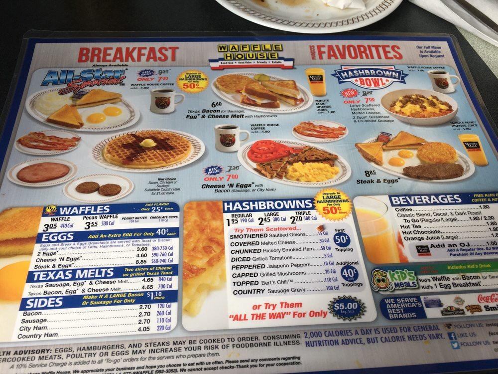 Breakfast favorites yelp for Waffle house classic jukebox favorites