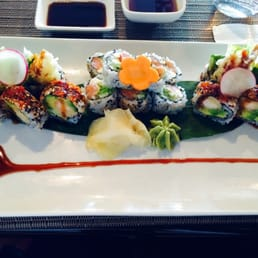 Mizu Hibachi & Sushi - New City, NY, United States. Delicious shrimp tempura & Philly rolls for lunch today!