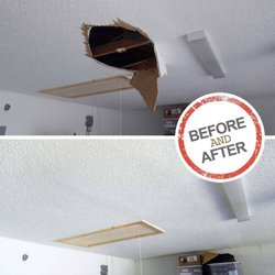 Photo Of Hole In The Wall Drywall Repair Orlando Fl United States