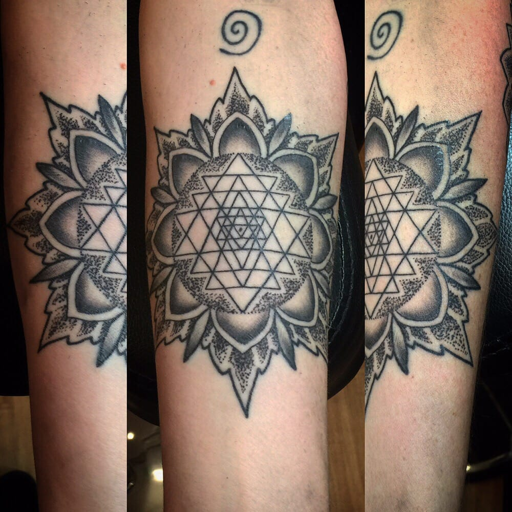 Sri yantra by matt sager yelp for Think tank tattoo