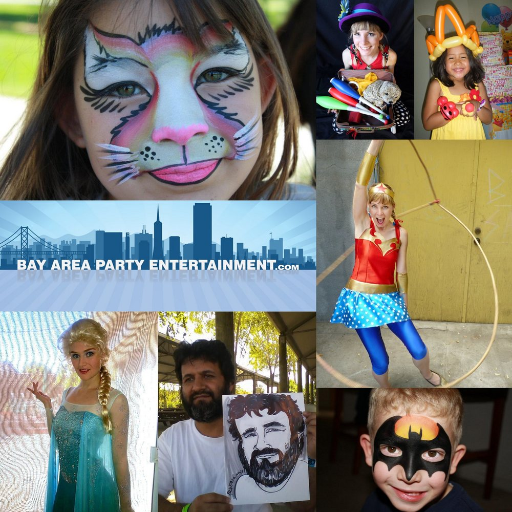 bay area party ent offers face painters balloon twisters clowns