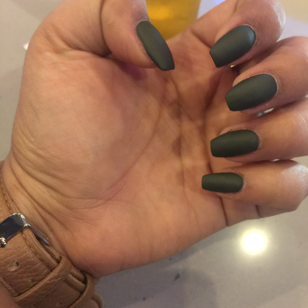 Photo Of Noire The Nail Bar Hendersonville Tn United States Olive Green