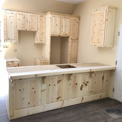 Photo Of Oscar S Cabinets Bakersfield Ca United States Knotty Pine Raised Panel