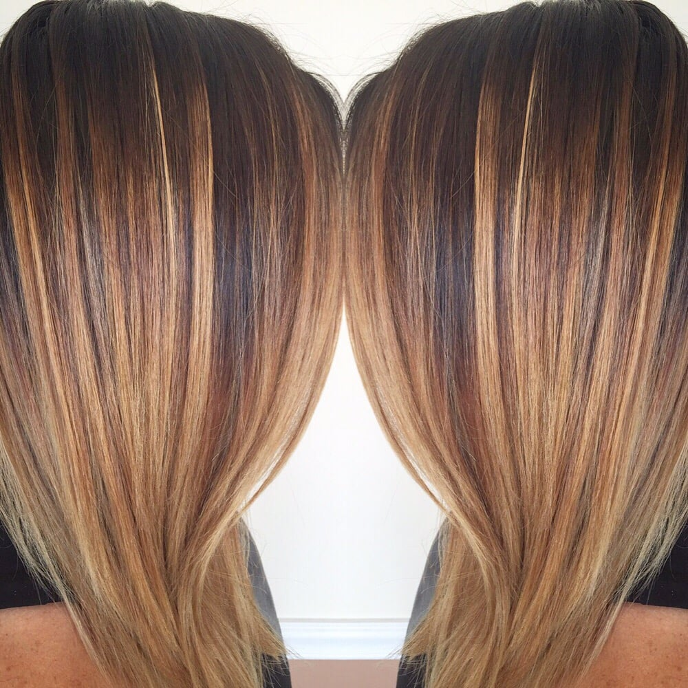 Hair Painting Balayage A Caramel And Blonde Combo To Add Depth