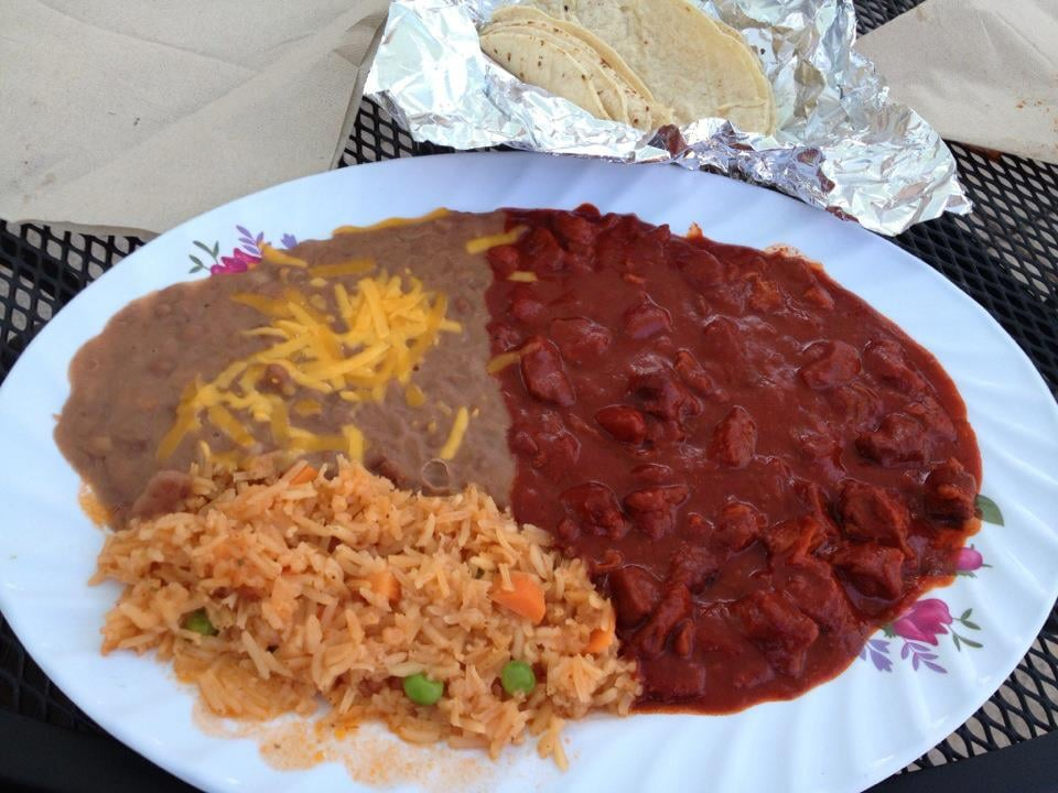 Mexican Plate With Guisado Rojo Yelp