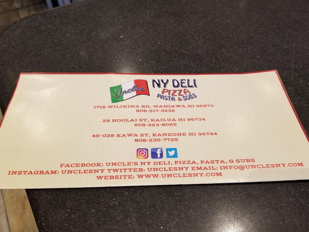 Uncle's NY Deli, Pizza, Pasta, & Subs - 46-028 Kawa St