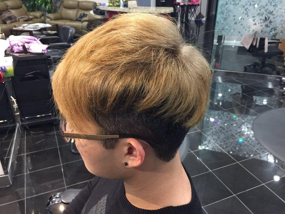 Bleached 2 Block Men S Haircut Yelp