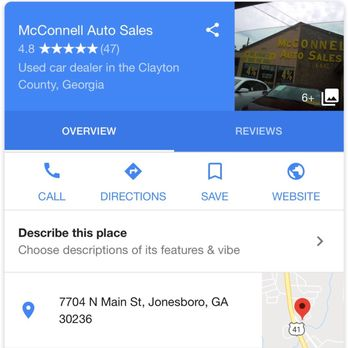 Mcconnell Auto Sales Car Dealers 7704 N Main St Jonesboro Ga