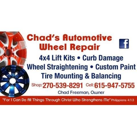 Chad's Automotive Wheel Repair: 10198 Nashville Rd, Adairville, KY