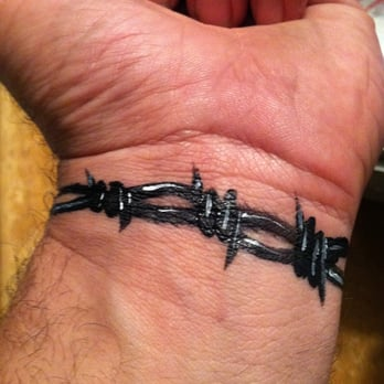 Painted Barbed Wire Tattoo Yelp