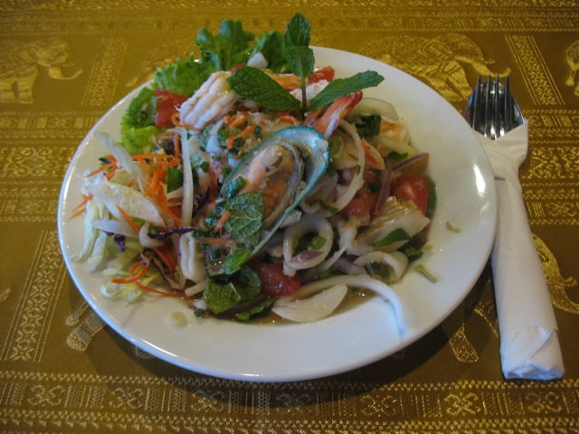 Seafood salad yelp for Aroy thai cuisine menu