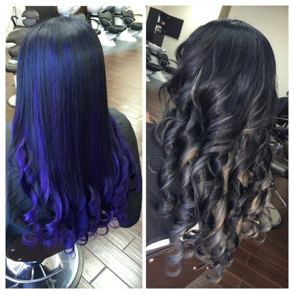 Same Hair Different Color From Purple To Grey Virgin Indian Hair