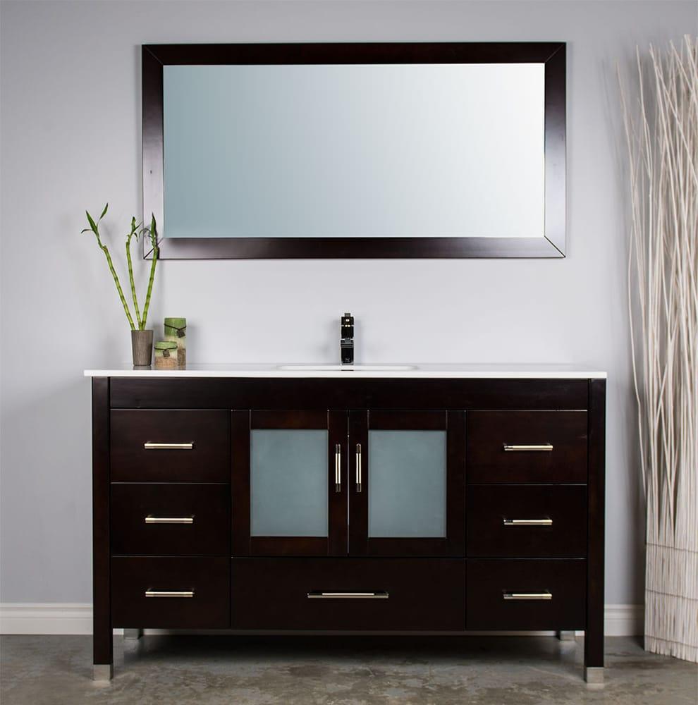 Bathroom Vanities Yelp large 59 inch single sink bathroom vanities available from