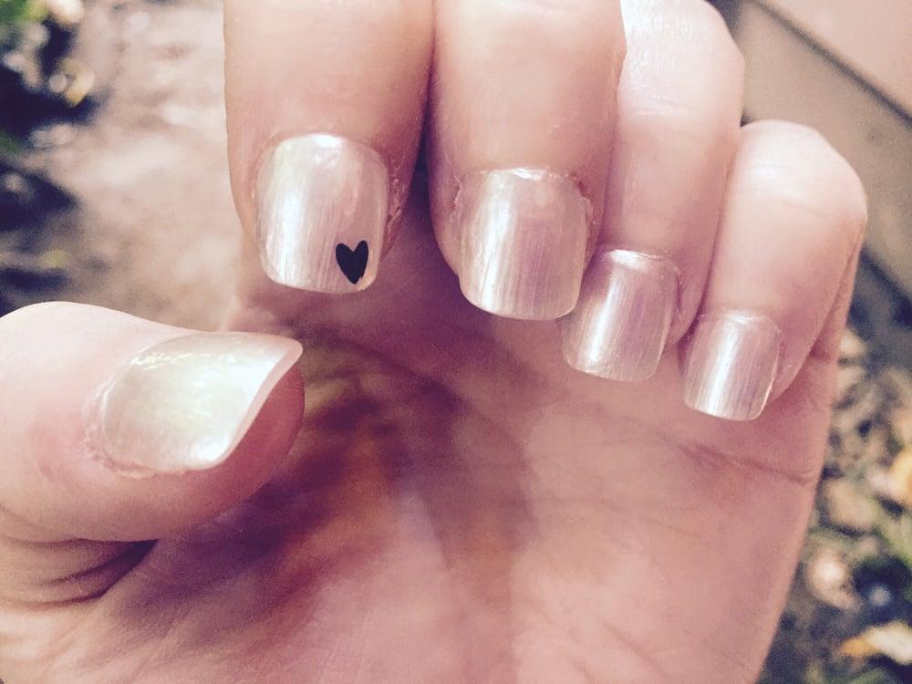 Got a regular fill today w/ regular nail polish (not gel) Love the ...